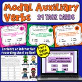 Modal Auxiliary Verbs Task Cards