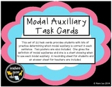 Modal Auxiliary Verbs Task Cards - Set of 20