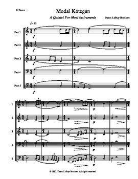 Modal Kotegan - A Mix-And-Match Quintet