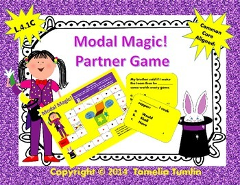 Modal Magic! Modal Auxilary Verbs Partner Game (Common Core Aligned)