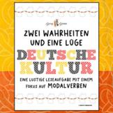 Modal Verbs & German Culture (Reading Comprehension, Writi