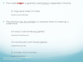 Modal Verbs Mini Lesson PPT, Handout & Activity German, Deutsch, Modalverben