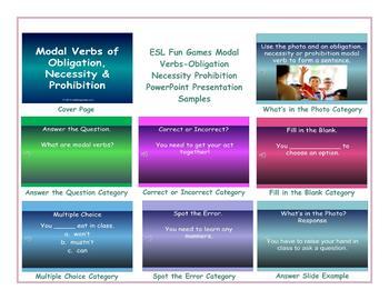Modal Verbs-Obligation Necessity Prohibition PowerPoint Presentation