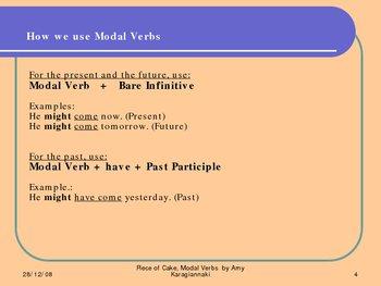 Modal Verbs, Piece of Cake, Grammar: theory & test