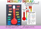 Modality Posers & Worksheet