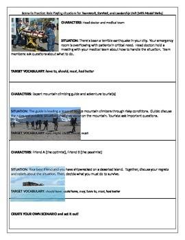 Modals Scenario Practice -Teambuilding, Leadership, Survival