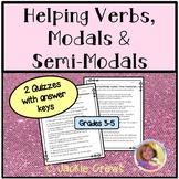 Helping Verbs/Modals & Semi-Modals: Auxiliary Verbs Quiz DistanceLearningTPT