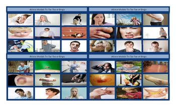 Modals of Advice Tic-Tac-Toe or Bingo