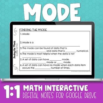 Mode Digital Math Notes