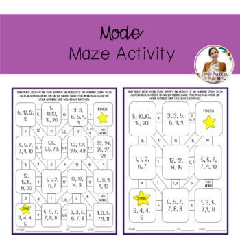 Mode Maze Activity