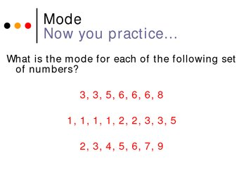 Mode, Mean, Median, Range Power Point Presentation