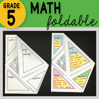 Doodle Fold - Mode, Mean, Median and Range Math Interactive Notebook Foldable