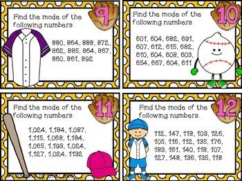 Mode & Range Task Cards (Data Landmarks)