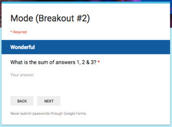 Mode – Two Breakout Activities - Perfect for Google Classroom!