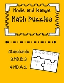Mode and Range Task Card Puzzles