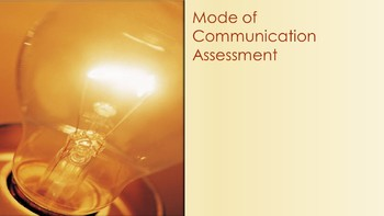 Mode of Communication Assessment/ABA