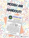 Modeh Ani Handout