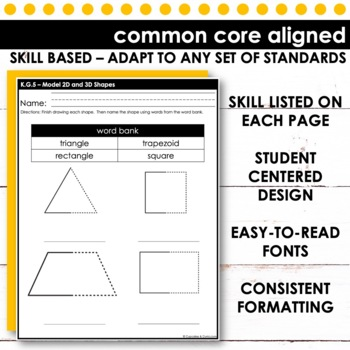 Model 2D and 3D Shapes   Kindergarten Math