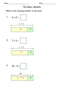 Addition Subtraction Solve Word Problems Math Worksheets Bar Model  Addition Subtraction Solve Word Problems Math Worksheets Bar Modeltape  Diagram