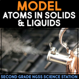 Model Atoms in Solids & Liquids Changing Matter - Second Grade Science Stations
