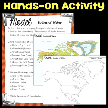 Model Bodies of Water - Shape of Our World - Second Grade Science Stations
