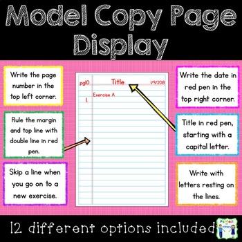 Model Copy Page Display