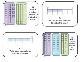 Model Decimal by Whole Number Multiplication Task Cards