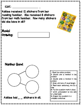 Model Drawing and Number Bond Word Problem Strategies