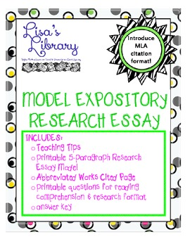 Model Expository Research Essay with Questionnaire