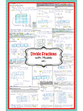 Model Fraction Division (Divide Fractions using Models) Notes-Exit Tickets-More