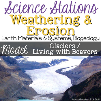 Model Glacier Erosion & Beaver Erosion -  4th Grade Science Stations