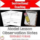 Model Lesson Observation Notes