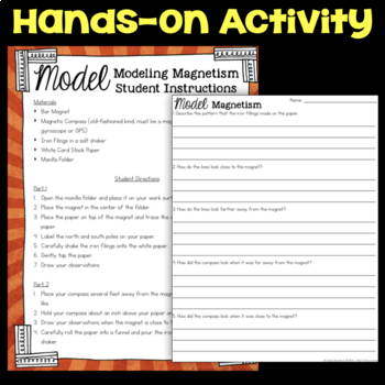 Model Magnetism using Iron Fillings & Bar Magnet - Science Station