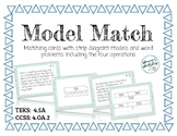 Model Match (Strip Diagram and Word Problem Match Cards)
