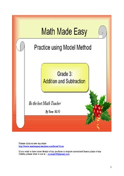 Model Method (Singapore) - Practice 1 Addition and Subtraction
