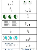 Model Multiplication Fractions Match Game 4.NF.4