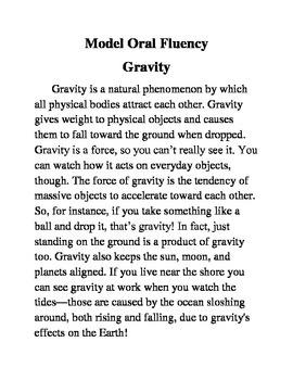 Model Oral Fluency- Gravity