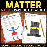 Model Parts of the Whole -  Properties of Matter Second Grade Science Stations