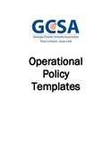 Model Policy Series: Operational Policy Templates
