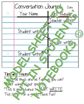 Model Sheet for Writing More with Conversation Journals