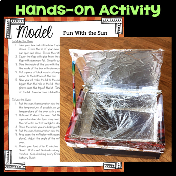 Model Solar Energy -  Fourth Grade Science Stations