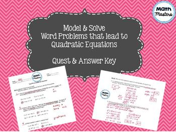 Quadratic Equations Word Problems Quest