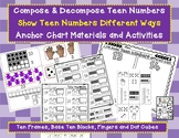 Model TEEN NUMBERS Different Ways - Anchor Chart Materials and Activities