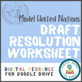 Model United Nations Draft Resolution Worksheet: Google Drive Resource