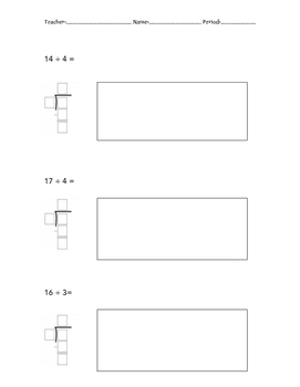 Model and Solve Division Practice(with remainders)