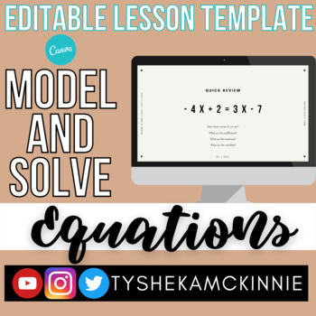 Model and Solve Equations (8.8A, 8.8C)