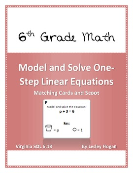 Model and Solve One Step Linear Equations: Match and Scoot