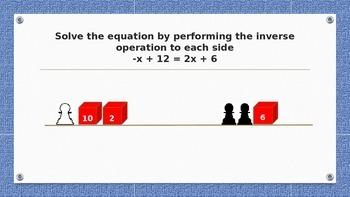 Model and Solve Two-Step Equations TEKS 7.11.A