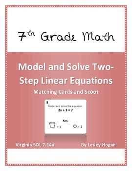Model and Solve Two Step Linear Equations: Match and Scoot