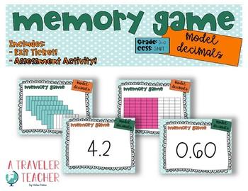 Model Decimals Match Game 5.nbt.1